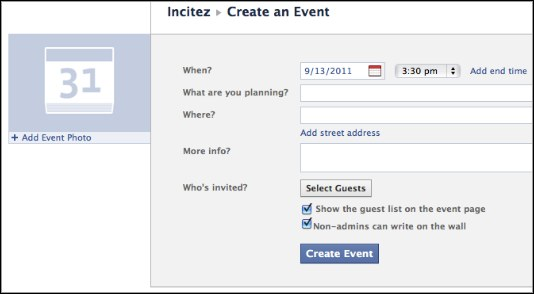 Create An Event on Facebook Page